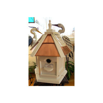 Gazebo Painted Copper Top Bird House