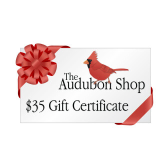 he Audubon Shop gift certificates... a great gift for birders that can be used toward any item in our online shop.