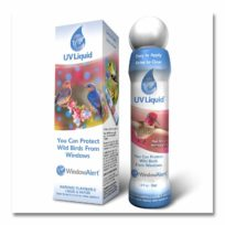 Window Alert UV Liquid to prevent bird strikes, available at The Audubon Shop, the best shop for birders, Madison CT