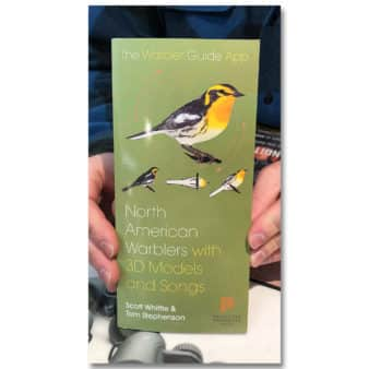 North American Warblers Fold Out Guide, at The Audubon Shop, the best shop for birdwatchers, Madison CT