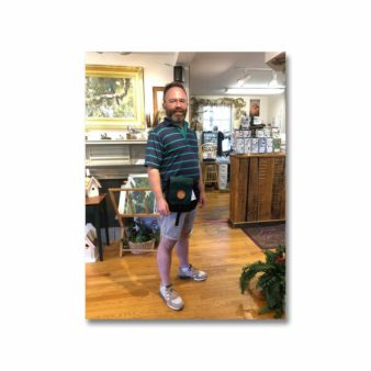 Pajaro Grande Shoulder Pack in Green, available at The Audubon Shop, the best shop for bird watchers, Madison CT