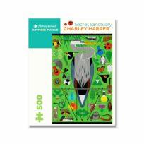 Charley Harper Secret Sanctuary Puzzle, available at The Audubon Shop, the best shop for bird watchers, Madison CT