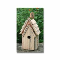 Bluebird Manor Nesting Box Natural Color, available at The Audubon Shop, the best shop for bird watchers, Madison CT