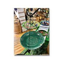 Hummingbird Ceramic Hanging Bird Bath, available at The Audubon Shop, the best shop for bird watchers, Madison CT